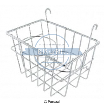 storage-basket-with-cup-holders-chrome
