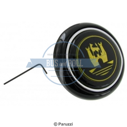horn-button-black-with-gold-colored-emblem