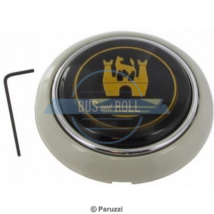 horn-button-silver-beige-with-gold-colored-emblem